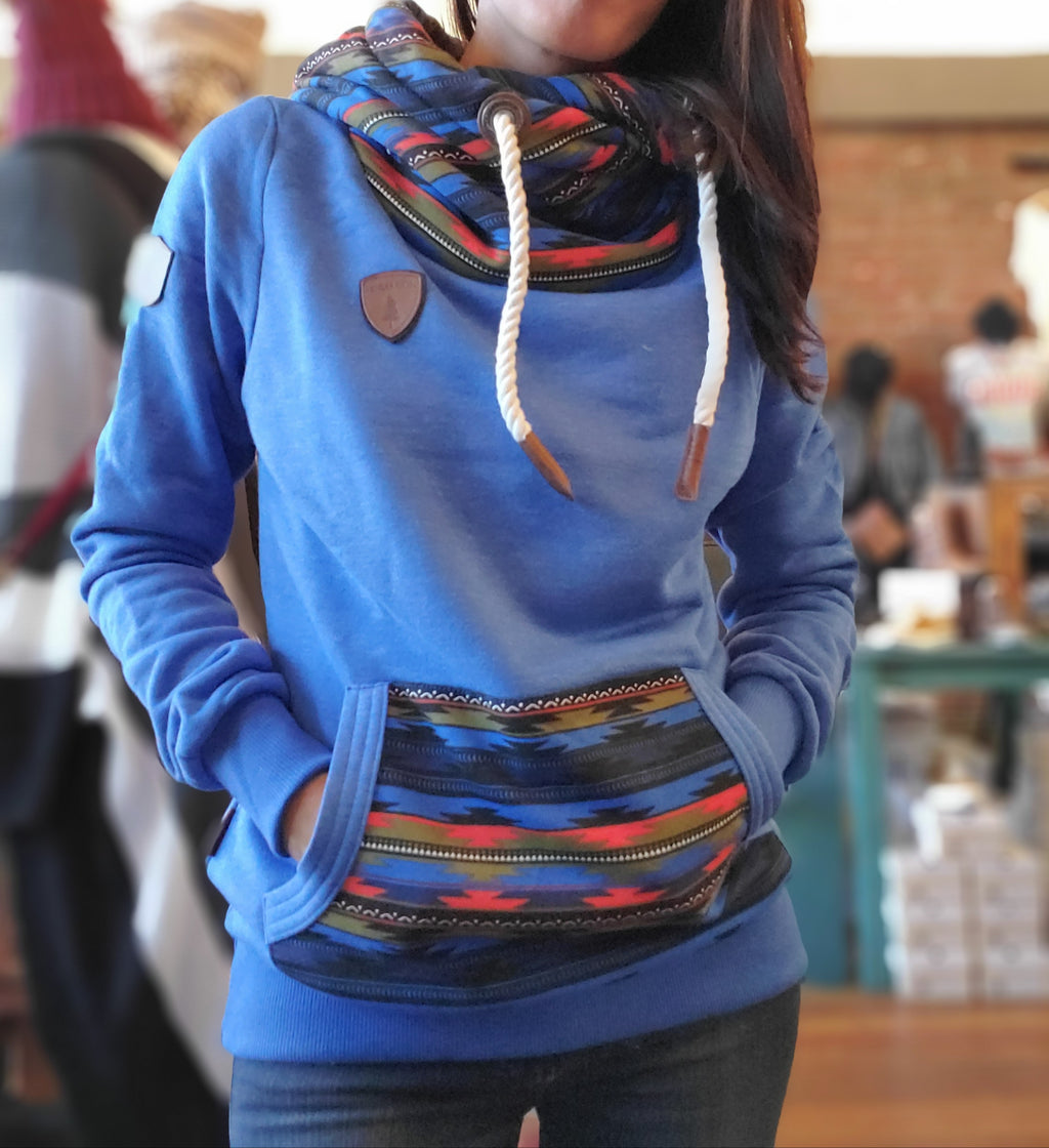 Wanakome Freya Pullover Hoodie in Nebula Blue - tempting-teal-boutique