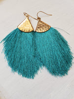 Fine Thread Tassel Earrings - tempting-teal-boutique