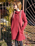 Montanaco Oxbow Long Zip Up Jacket in Burgundy - tempting-teal-boutique