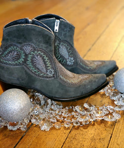 Old Gringo Bianca Leather Boots in Dark Mint