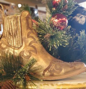 Old Gringo Shay Ankle Boot in Distressed Gold
