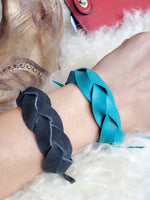 Handmade Leather Magic Braid Cuff Bracelets