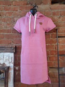 Wanakome Rebekka Hoodie Dress in Pink