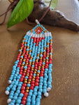 Artisan Made Large Fringe Bead Necklace