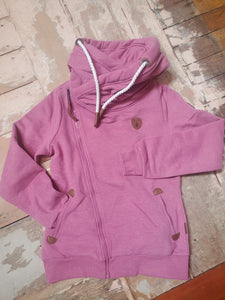 Wanakome Athena Side Zip Up Hoodie in Cassis