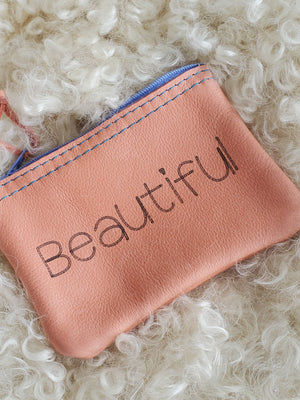 Leather Upcycled Accessories Pouch