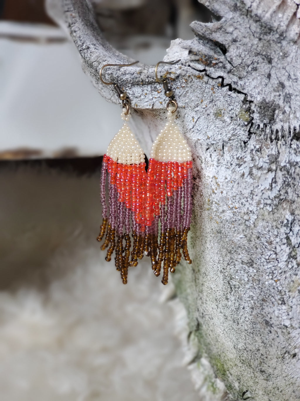 Artisan Fringe Bead Earrings
