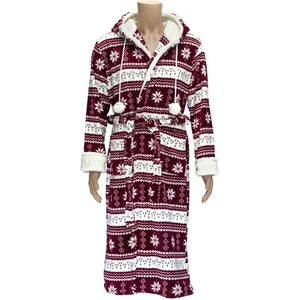 Romanta Nordic Fleece Hooded Robe