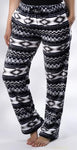 Black Aztec Print Ultra Soft Lounge Pants