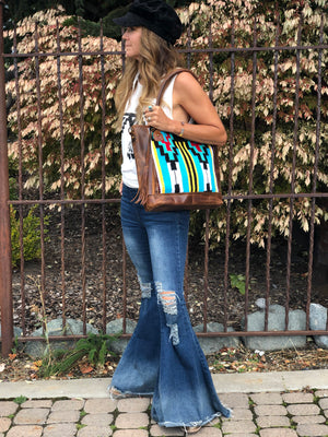 Distressed Denim Bell Bottoms - tempting-teal-boutique
