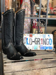 "Old Gringo Leather Cowboy Boots Rockrazz 13"" Shaft in Black with Studs"