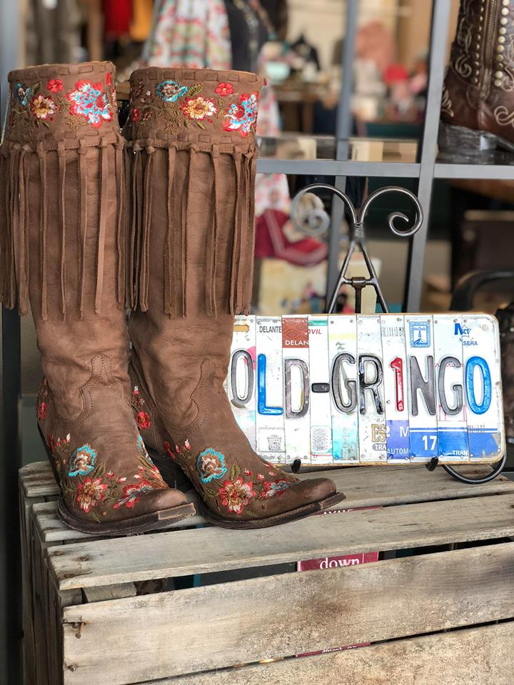 "Old Gringo Reba 15"" Shaft Leather Boots"