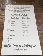 Handmade Fleece Adult Socks