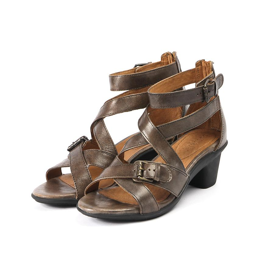Bechar Cross Straps Buckle Sandals in Taupe