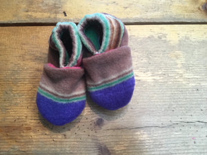 Wolfe Fleece Baby Booties