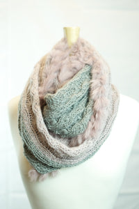 MontanaCo Parker Infinity Scarf in Pink/Grey - tempting-teal-boutique