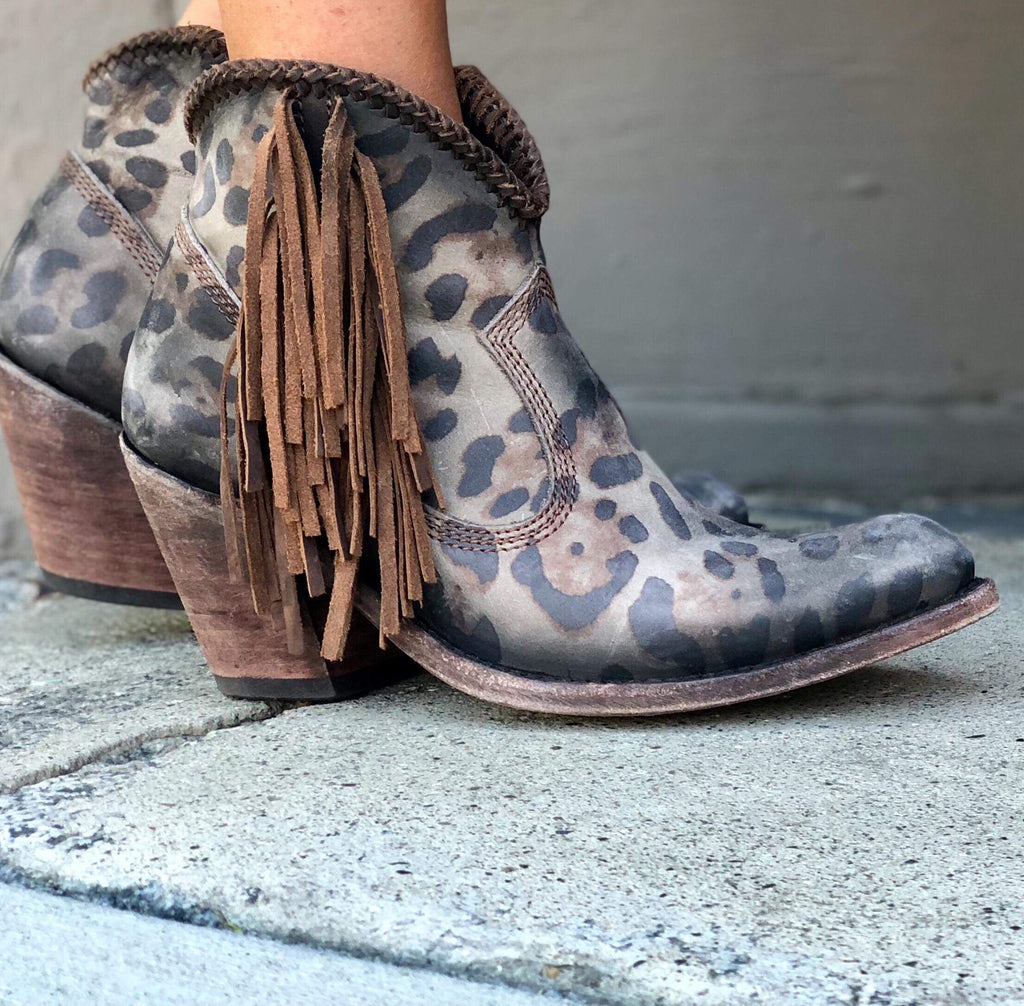 Liberty Black Chloe Chita Fringe Leather Boots in Brown