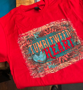 Tumbleweed Heart Graphic T in Red