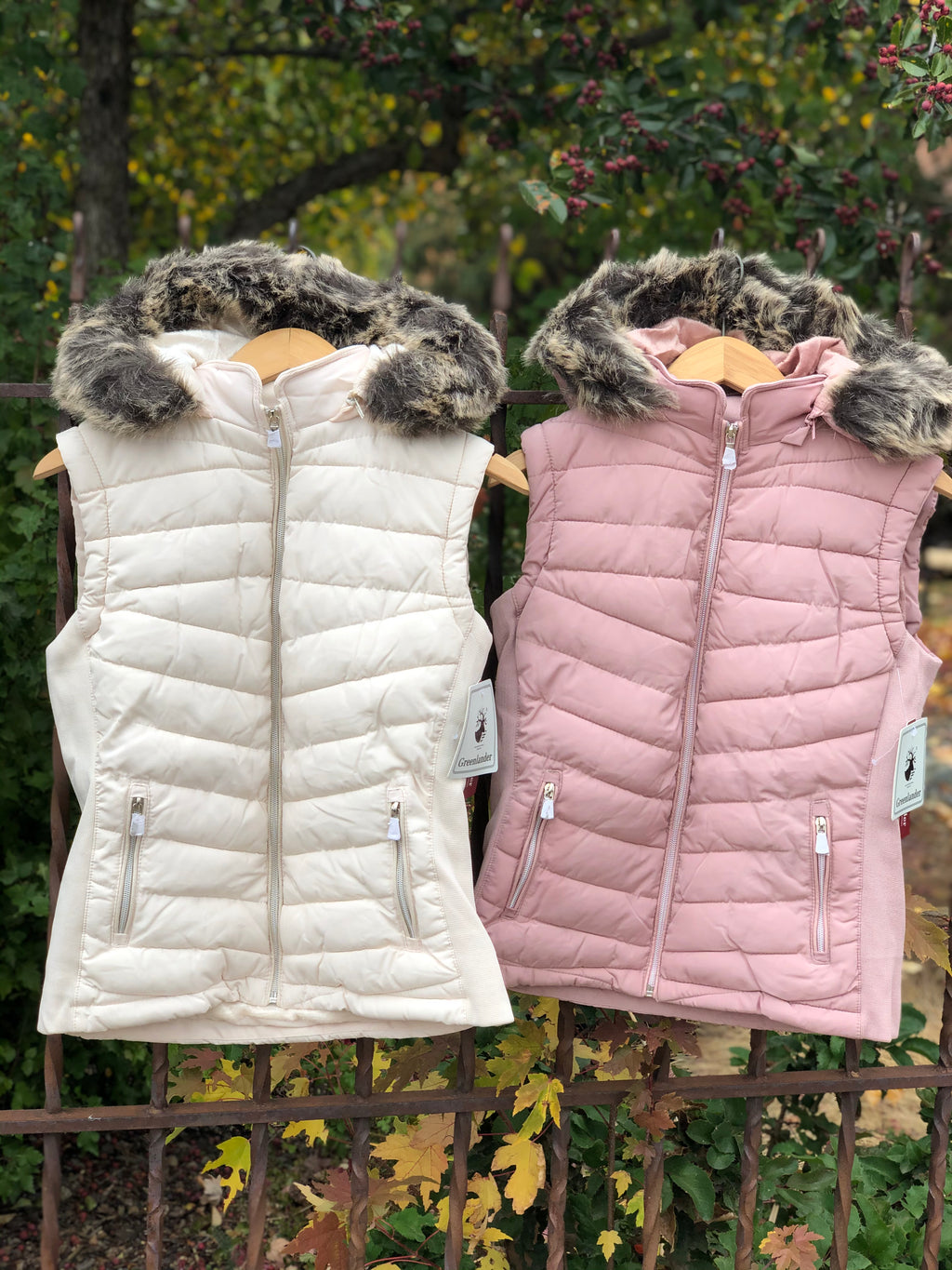 Padded Vest w/Detachable Fur Hood