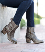 Bed Stu Blaire Short Ankle Boot in Taupe Dip Dye Leather