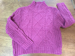 Dark Mauve Mock Turtle Neck Sweater