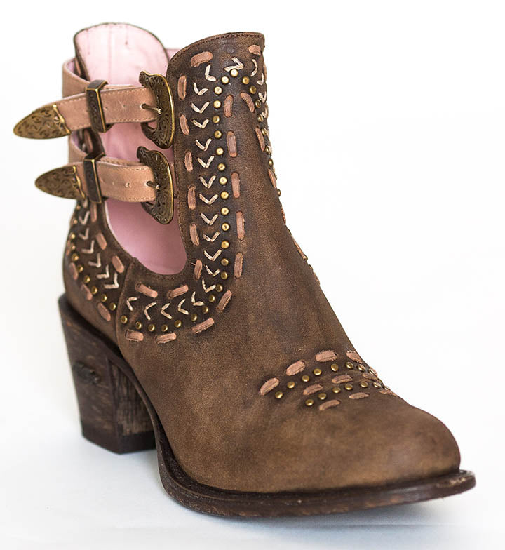 Miss Macie Geez Louise Short Boots Leather