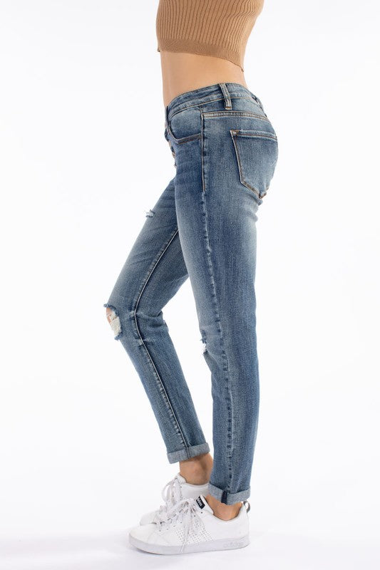 KanCan Sharon Calyer Girlfriend Fit Distressed Jeans