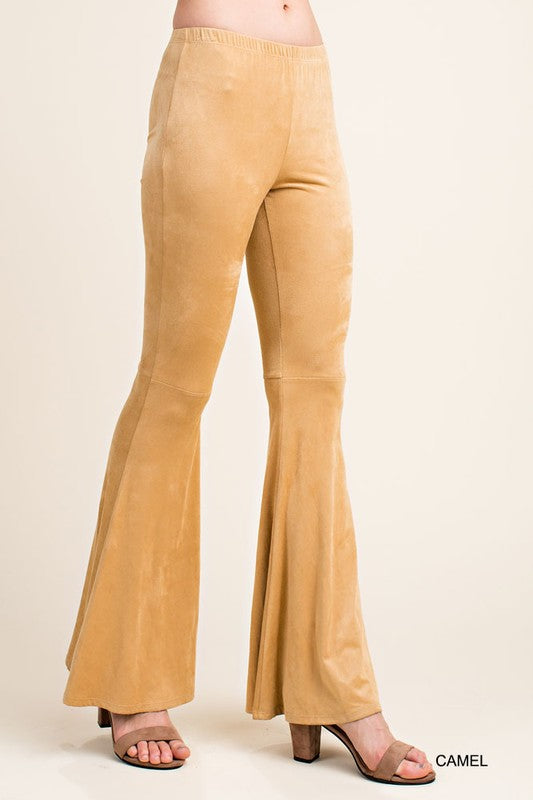 Suede Bell Bottoms in Camel