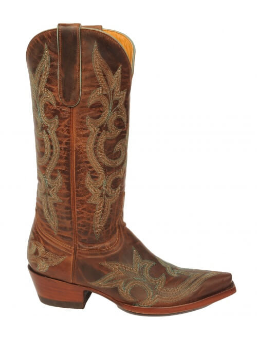 Old Gringo Diego Leather Boot in Rust w/ Embroidery