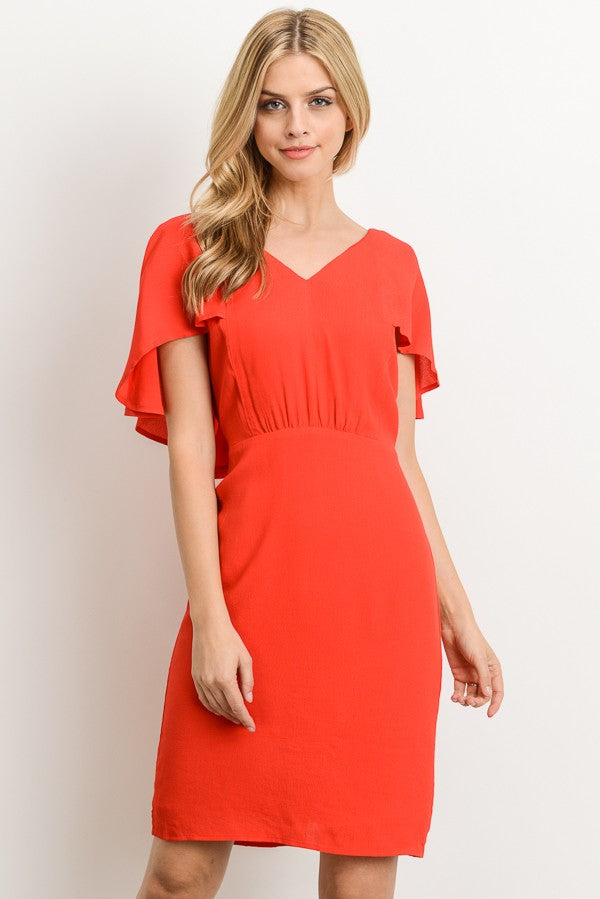 Romantic Nights Red V-neck Dress