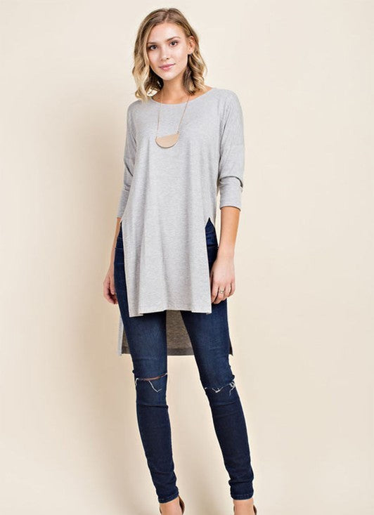 Top w/ 3/4 Sleeve and Side Slits