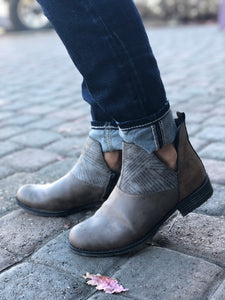 Rieker Peggy Boots in Brandy Brown