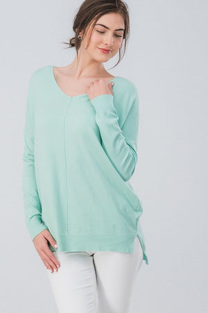High-Low Tunic Sweater in Pastel Colors