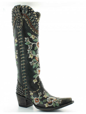 Old Gringo Double D Almost Famous Boots in Black - tempting-teal-boutique