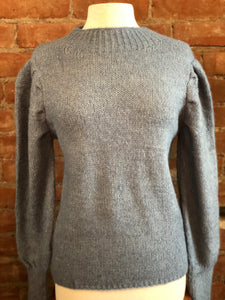 Mock TurtleNeck Sweater with Puffy Sleeves