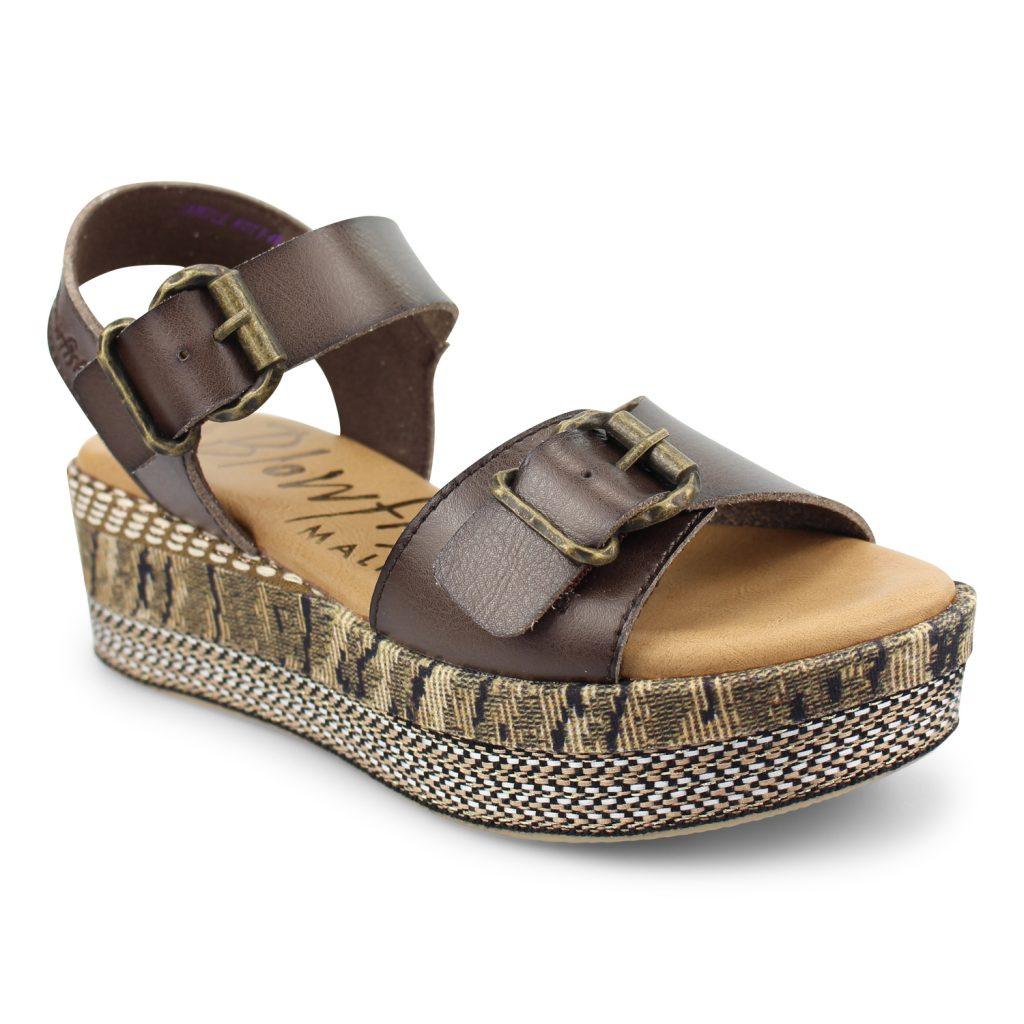 Blowfish Leeds Sandal in Tobacco Brown
