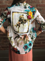 Montanaco Buckaroo Floral Button Up Top