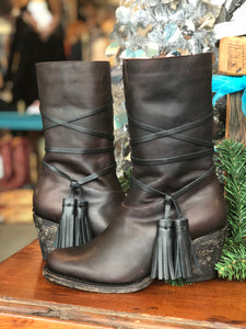 Miss Macie Knot So Fast Leather Boots - tempting-teal-boutique
