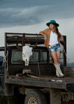 Double D Ranch Almost Famous Boots in White