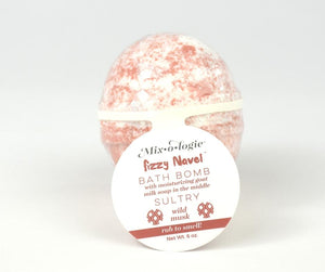 Mixologie Fizzy Navel Bath Bomb - tempting-teal-boutique