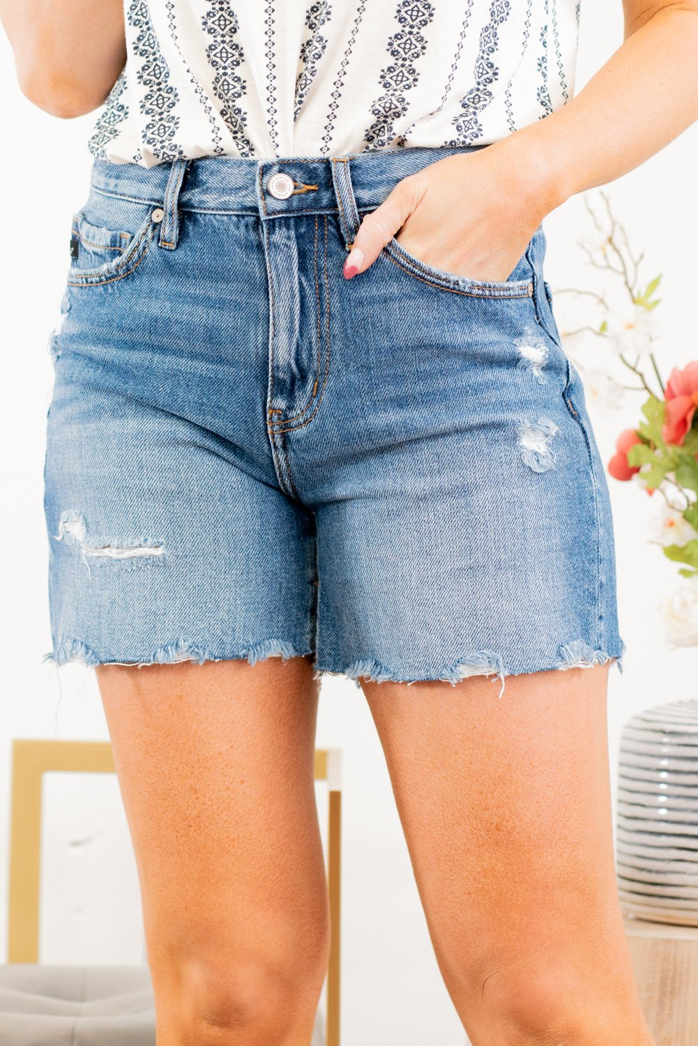 KanCan Blake High Rise Shorts