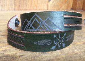 SXS Leather Snap On Double Wrap Bracelet
