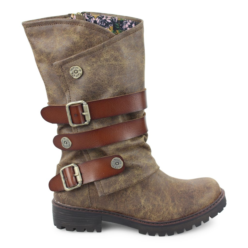 Blowfish Rider Boot in Chocolate Brown