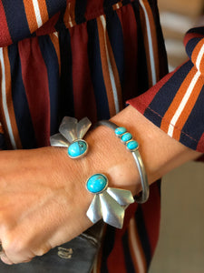 The 2Bandits Scarecrow Open Cuff in Turquoise
