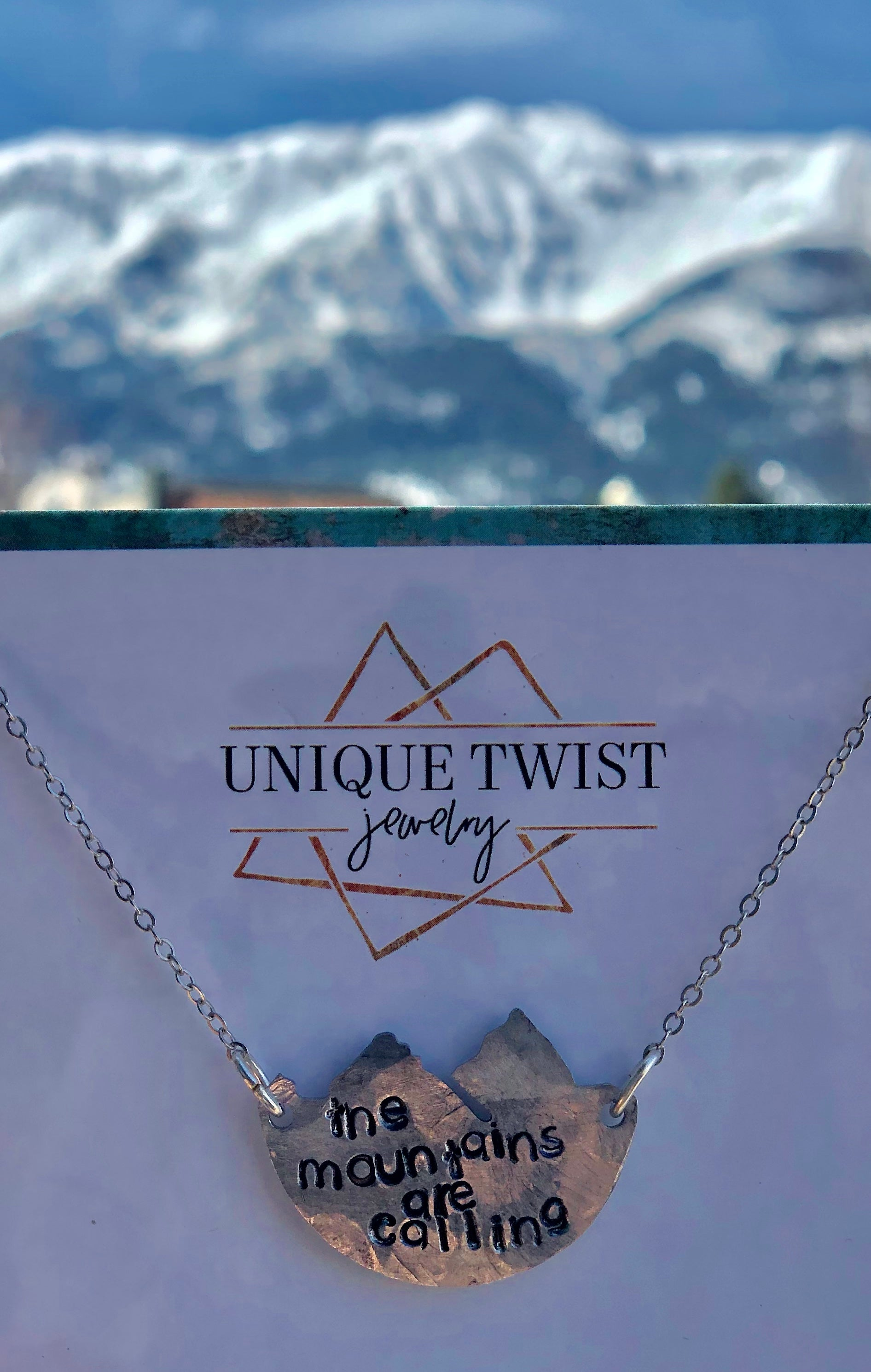 Unique Twist Mountains Calling Necklace
