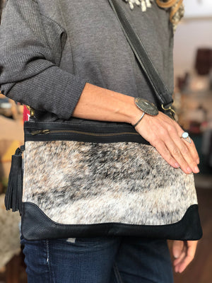 Boho Cowhide Shoulder Bag