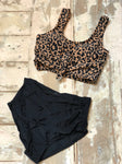 Leopard Knot Swimwear Top