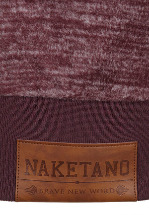 Naketano Redefreiheit Pimped Zip Up Jacket Aubergini Melange