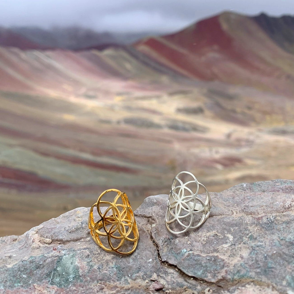 Seed of Life Gold Rings
