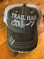 Trail Hair Don't Care Distressed Baseball Hat